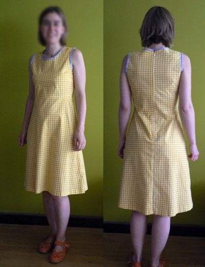 patron couture robe trois trous