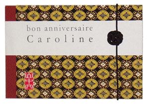 carte anniversaire Caroline