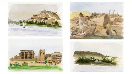 carnet de voyage: Egypte