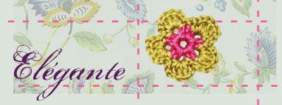 fiche fleur de laine modèle fleur Elégante