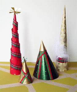 Sapins de Noël en papier cadeau