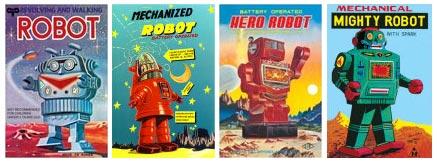 Allposters, vintage robots
